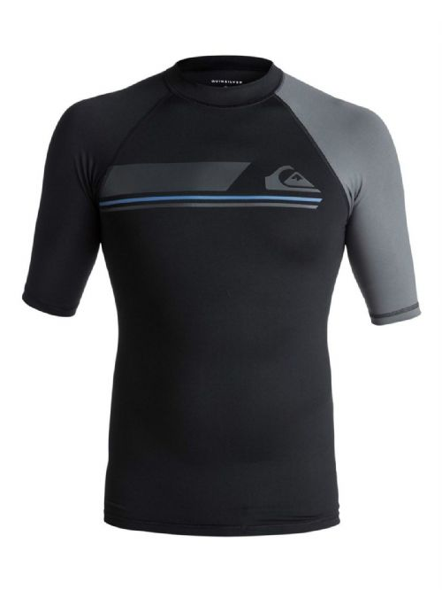 QUIKSILVER MENS RASH VEST.ACTIVE UPF50+ BLACK GUARD SURF T SHIRT TOP 7W 073 KVJO